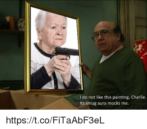 smug: I do not like this painting, Charlie.  Its smug aura mocks me. https://t.co/FiTaAbF3eL