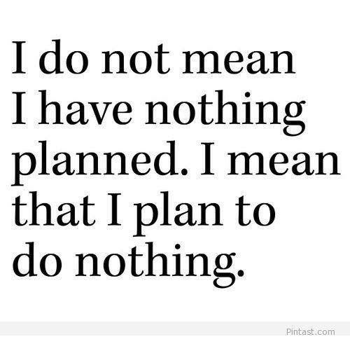 i do not mean i have nothing planned i mean 5607277 i do not mean i have nothing planned i mean that i plan to do