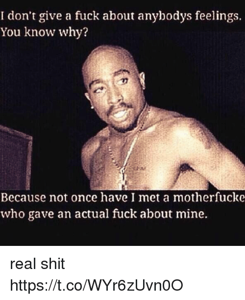 i don t give a fuck about you