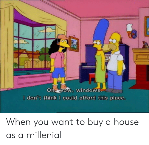 millenial: I don't think I could afford this place When you want to buy a house as a millenial