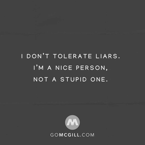 liars: I DON'T TOLERATE LIARS.  I'M A NICE PERSON,  NOT A STUPID ONE.  GOMCGILL.COM