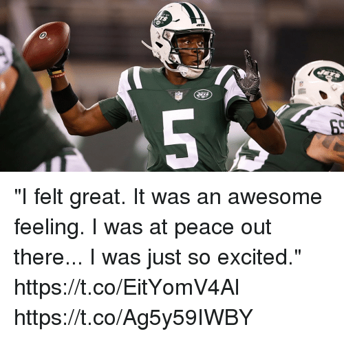 "peace out: ""I felt great. It was an awesome feeling. I was at peace out there... I was just so excited."" https://t.co/EitYomV4Al https://t.co/Ag5y59IWBY"