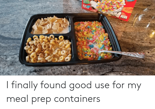 Meal Prep: I finally found good use for my meal prep containers