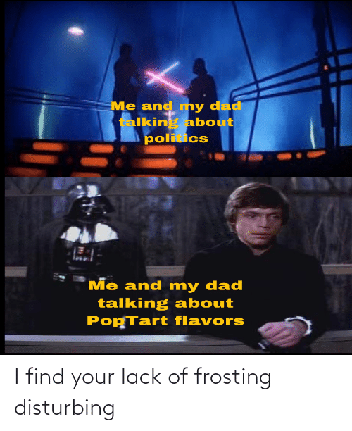 frosting: I find your lack of frosting disturbing