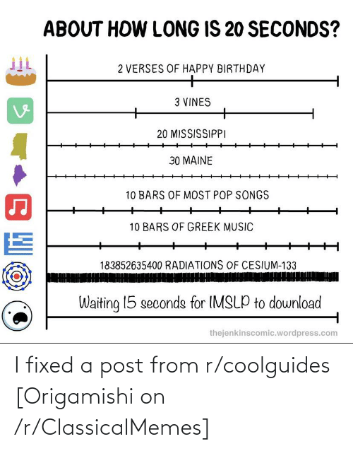 Fixed: I fixed a post from r/coolguides [Origamishi on /r/ClassicalMemes]
