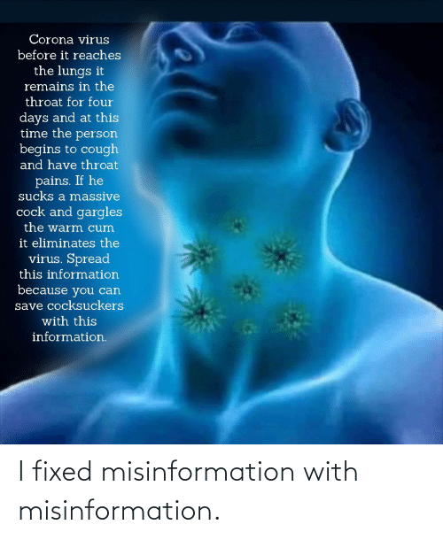 misinformation: I fixed misinformation with misinformation.