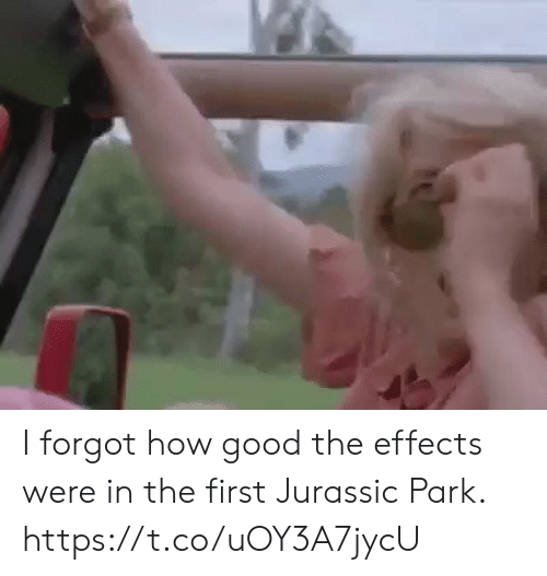 Jurassic Park: I forgot how good the effects were in the first Jurassic Park. https://t.co/uOY3A7jycU