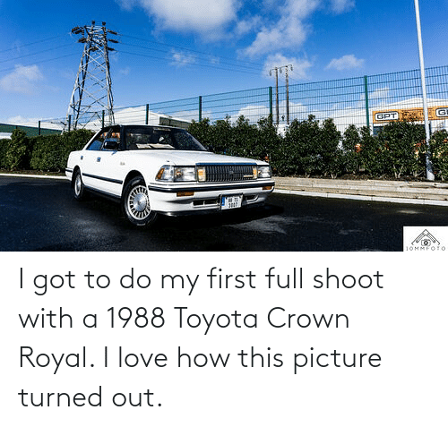 Toyota: I got to do my first full shoot with a 1988 Toyota Crown Royal. I love how this picture turned out.