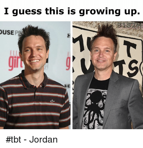 Growing Up, Tbt, and Guess: I guess this is growing up.  USE #tbt - Jordan