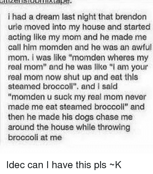 he had a dream and it