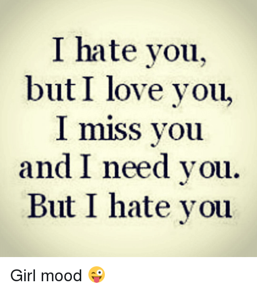 I Hate You But I Miss You