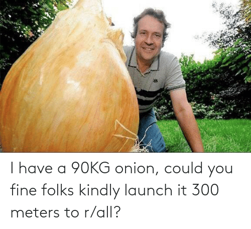 You Fine: I have a 90KG onion, could you fine folks kindly launch it 300 meters to r/all?