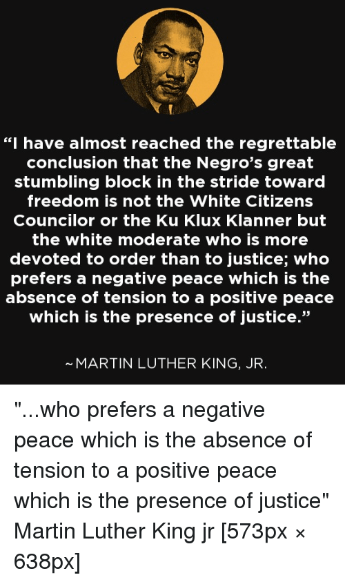 Martin Luther King Jr Conclusion