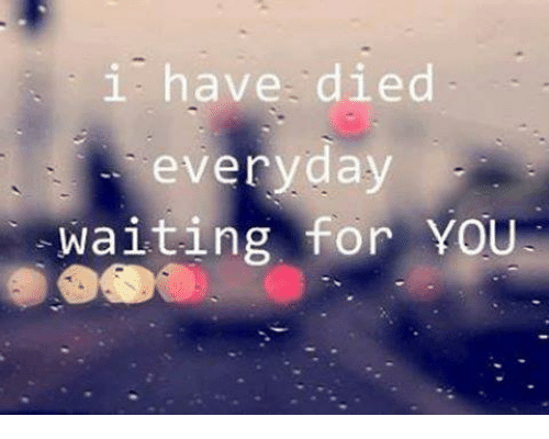 I Have Died Everyday Waiting For You: i have died  everyday  waiting for YOU