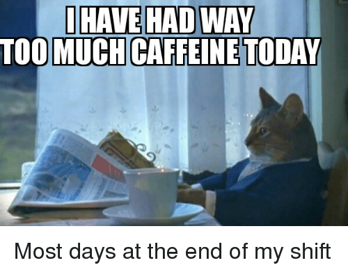 10 best images about Coffee on Pinterest | Cats, Funny and ... |Too Much Caffeine Animal