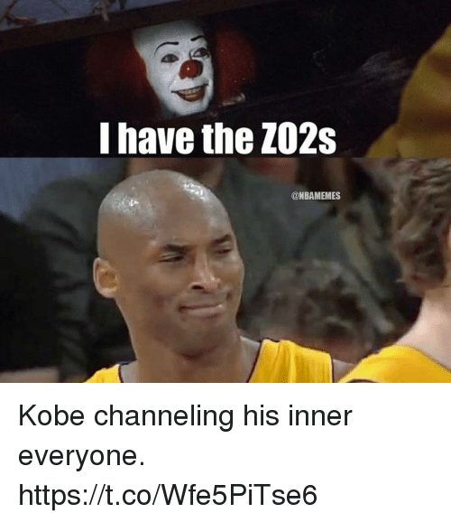 Memes, Kobe, and 🤖: I have the Z02s  @NBAMEMES Kobe channeling his inner everyone. https://t.co/Wfe5PiTse6