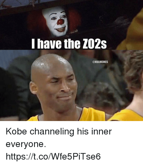 Kobe, Everyone, and Channeling: I have the ZO2s  @NBAMEMES Kobe channeling his inner everyone. https://t.co/Wfe5PiTse6