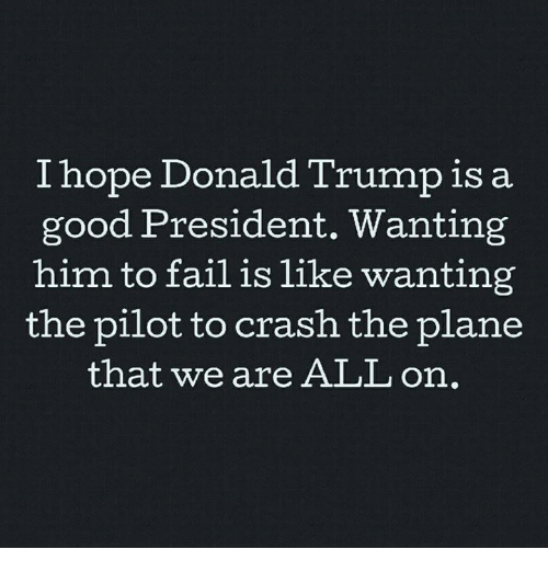 Image result for wanting the president to fail is like