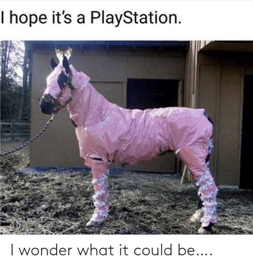 PlayStation: I hope it's a PlayStation. I wonder what it could be….