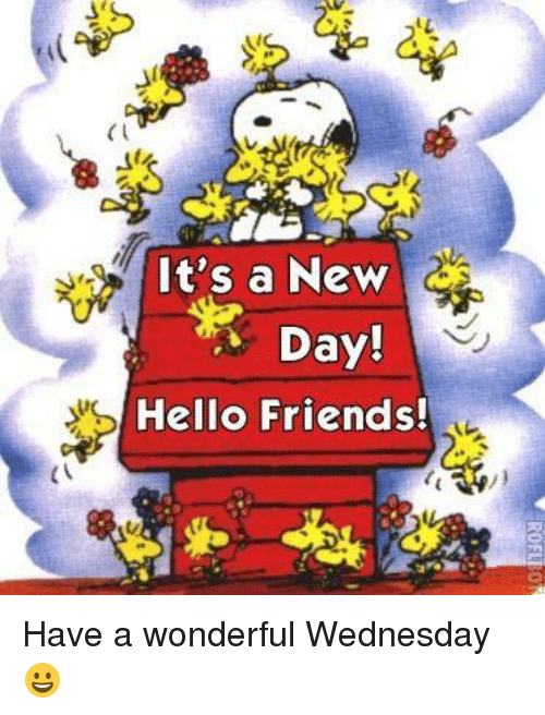 Have A Wonderful Wednesday: (I  It's a New  Day!  Hello Friends! Have a wonderful Wednesday😀