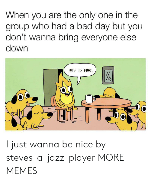player: I just wanna be nice by steves_a_jazz_player MORE MEMES