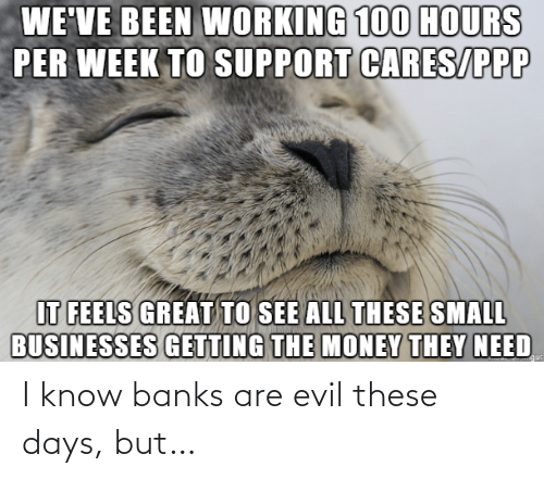 Evil: I know banks are evil these days, but…