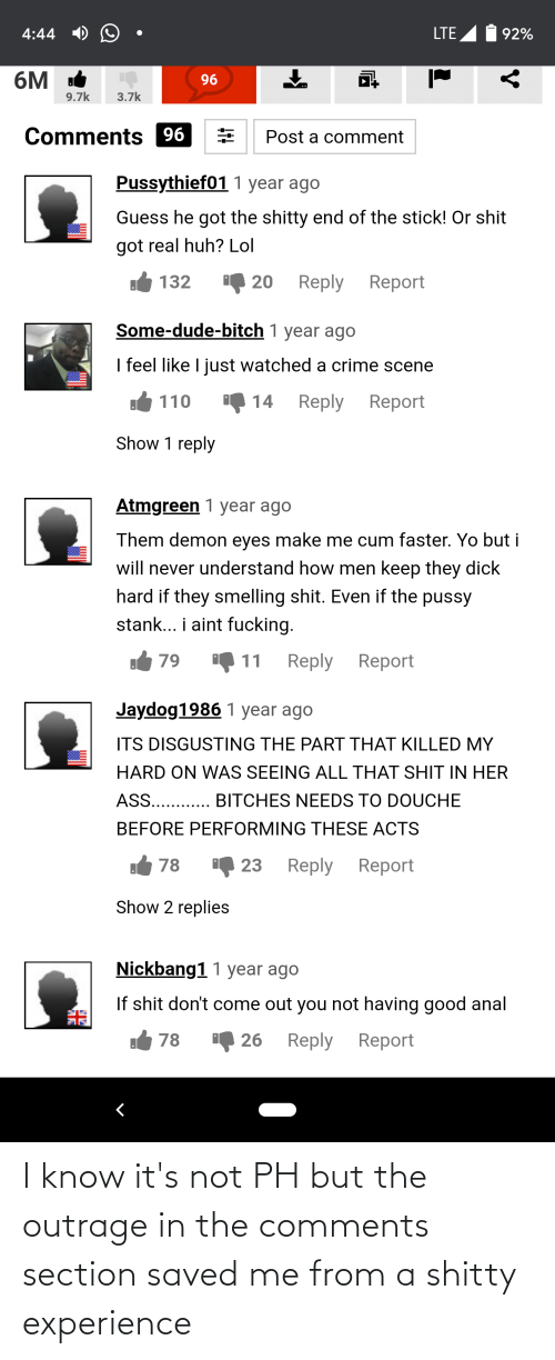 Outrage: I know it's not PH but the outrage in the comments section saved me from a shitty experience