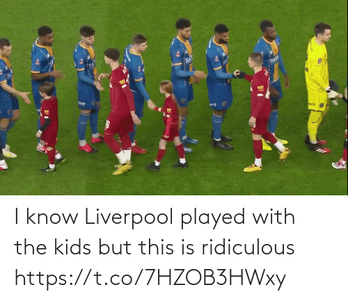 Liverpool F.C.: I know Liverpool played with the kids but this is ridiculous https://t.co/7HZOB3HWxy