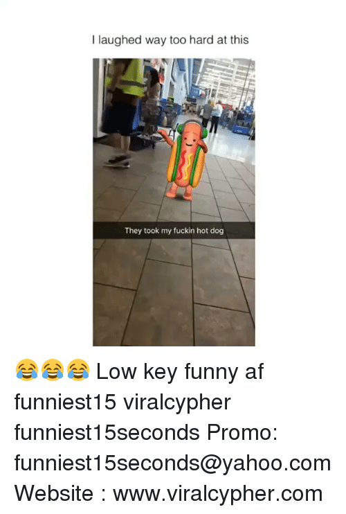 Af, Funny, and Low Key: I laughed way too hard at this  They took my fuckin hot dog 😂😂😂 Low key funny af funniest15 viralcypher funniest15seconds Promo: funniest15seconds@yahoo.com Website : www.viralcypher.com