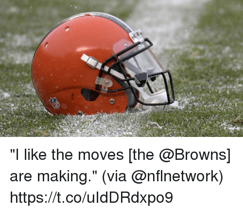 "Memes, Browns, and 🤖: ""I like the moves [the @Browns] are making.""  (via @nflnetwork) https://t.co/uIdDRdxpo9"