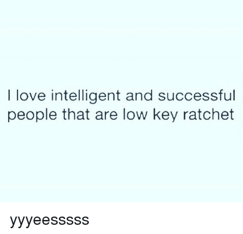 Low Key, Memes, and Ratchet: I love intelligent and successful  people that are low key ratchet yyyeesssss