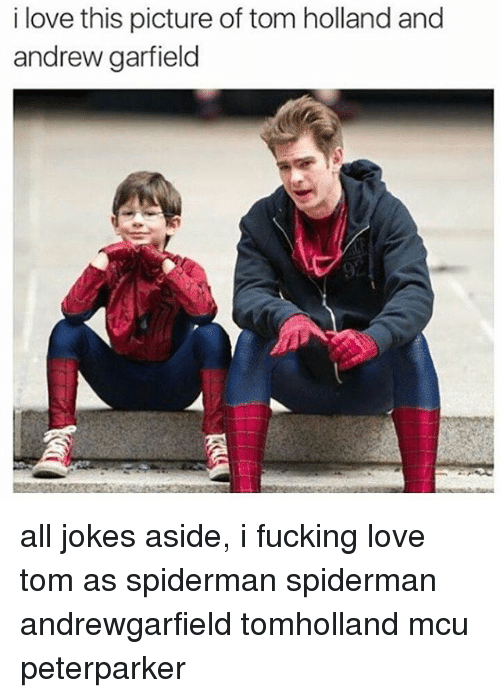 Andrew Garfield: i love this picture of tom holland and  andrew garfield all jokes aside, i fucking love tom as spiderman spiderman andrewgarfield tomholland mcu peterparker