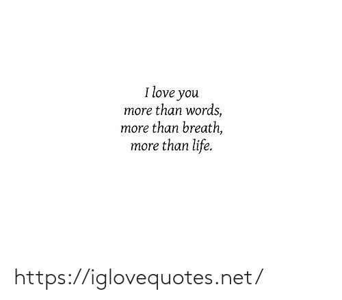 i love you more than: I love you  more than words,  more than breath,  more than life. https://iglovequotes.net/