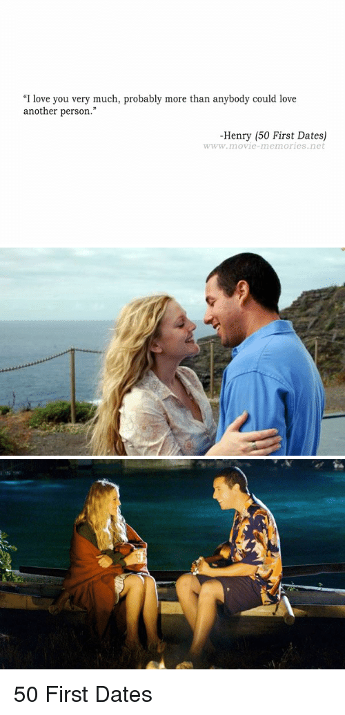 reflection of 50 first dates I don't think 50 first dates is a great movie, or a particularly funny one, but i admired its romanticism and its gentle plea for the acceptance of difference.