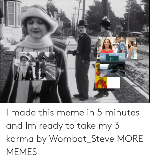 wombat: I made this meme in 5 minutes and Im ready to take my 3 karma by Wombat_Steve MORE MEMES