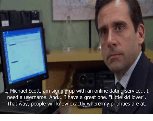 Michael scott online dating