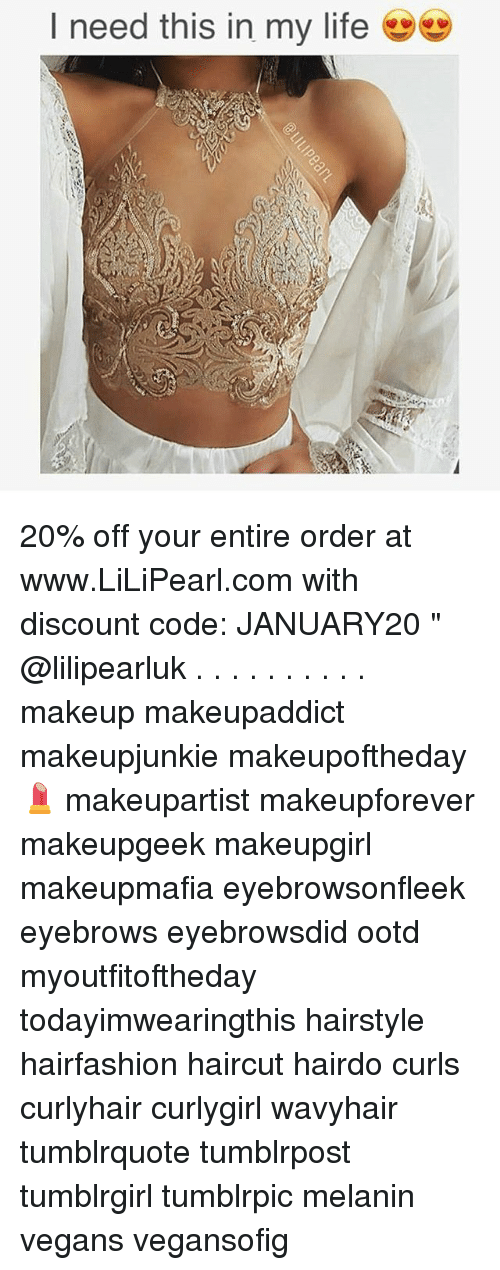 "Haircut, Makeup, and Memes: I need this in my life 20% off your entire order at www.LiLiPearl.com with discount code: JANUARY20 "" @lilipearluk . . . . . . . . . . makeup makeupaddict makeupjunkie makeupoftheday💄 makeupartist makeupforever makeupgeek makeupgirl makeupmafia eyebrowsonfleek eyebrows eyebrowsdid ootd myoutfitoftheday todayimwearingthis hairstyle hairfashion haircut hairdo curls curlyhair curlygirl wavyhair tumblrquote tumblrpost tumblrgirl tumblrpic melanin vegans vegansofig"