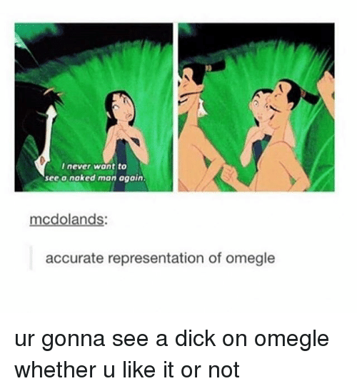 Omegle, Tumblr, and Dick: I never want to  see o noked man again.  oland  accurate representation of omegle ur gonna see a dick on omegle whether u like it or not