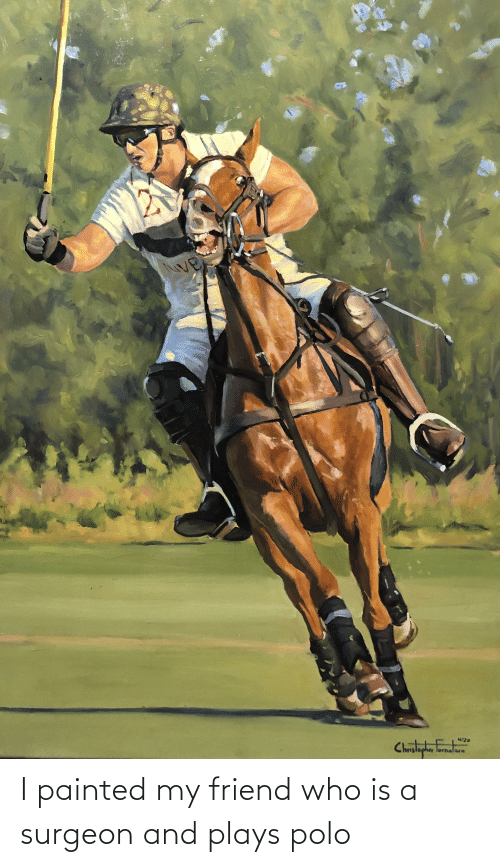 Polo: I painted my friend who is a surgeon and plays polo