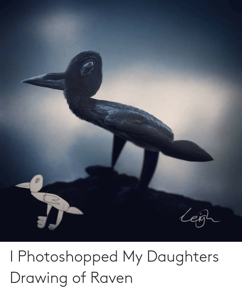 drawing: I Photoshopped My Daughters Drawing of Raven