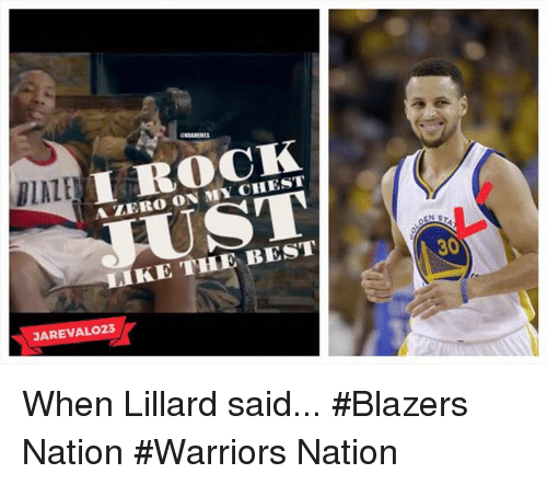 Nba, Zero, and Best: I ROCK  A ZERO LIKE THE BEST  JAREVALO23  ENST  30 When Lillard said... #Blazers Nation #Warriors Nation