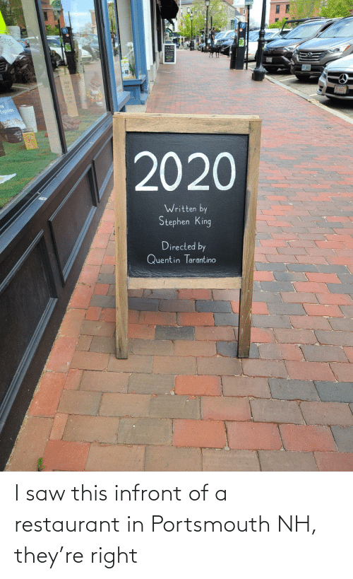 Restaurant: I saw this infront of a restaurant in Portsmouth NH, they're right