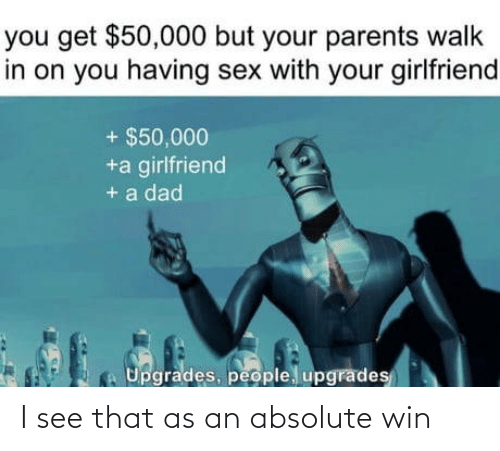 Absolute: I see that as an absolute win