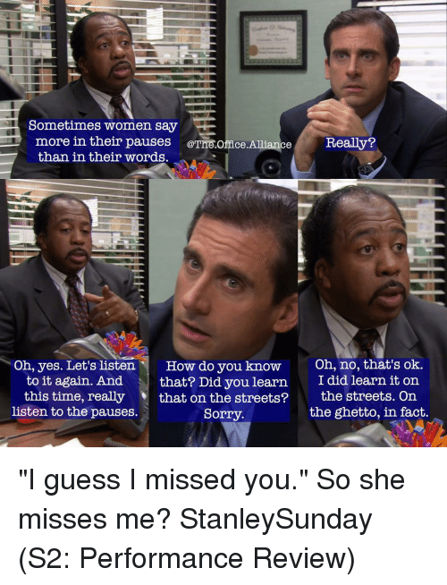 I Guess I Missed You The Office