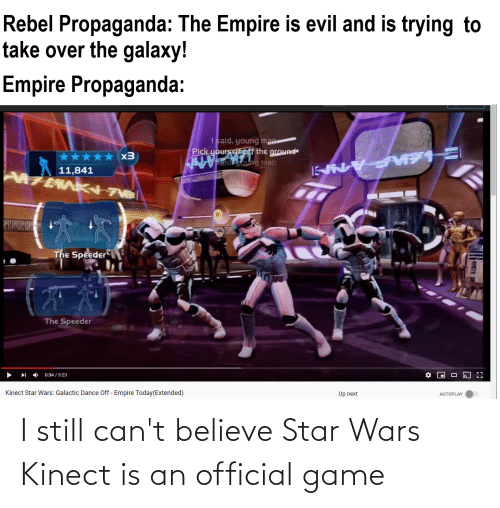 Cant Believe: I still can't believe Star Wars Kinect is an official game