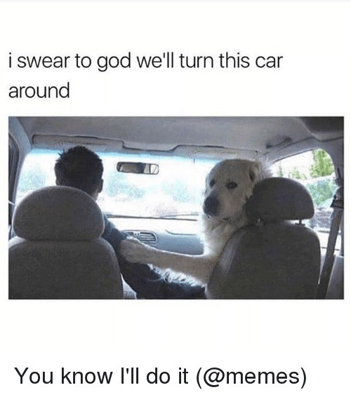 It Memes: i swear to god we'll turn this car  around You know I'll do it (@memes)