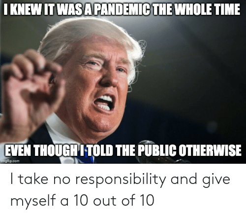10 Out Of 10: I take no responsibility and give myself a 10 out of 10