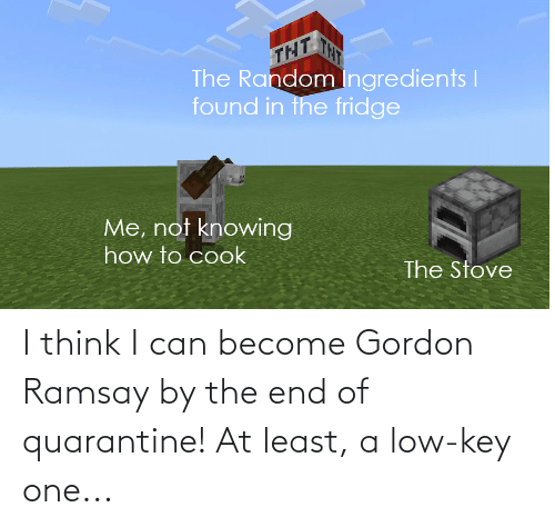 Gordon Ramsay: I think I can become Gordon Ramsay by the end of quarantine! At least, a low-key one...