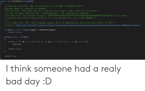 Bad day: I think someone had a realy bad day :D