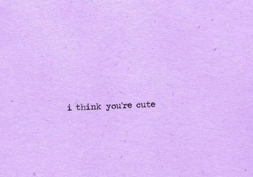Youre Cute: i think you're cute